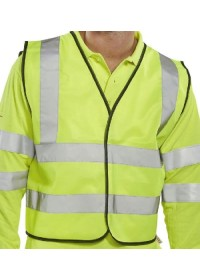 Hi Vis short length vest HVW101Y