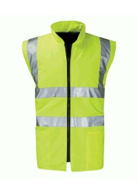 Hi Vis Reversible Bodywarmer Yellow