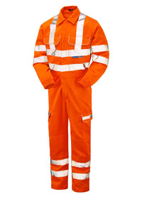 Pulsarail Orange Hi Vis Coverall with Combat Pockets PR339