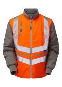 Pulsarail Orange Hi Vis Interactive Bodywarmer PR498