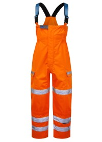 Pulsarail Orange Hi Vis Foul Weather Salopette PR504