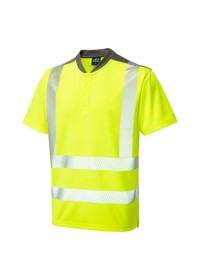 Leo Yellow Hivis Performance T-Shirt T12-Y