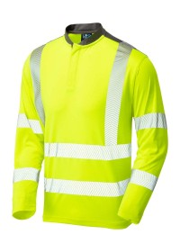 Yellow Long Sleeved Hivis Performance T-Shirt Leo