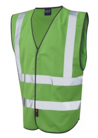 Leo Hi Vis Vest In Emerald Green W05