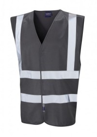 Leo Hi Vis Vest In Dark Grey W05