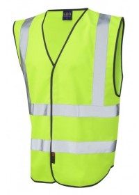 Leo Hi Vis Vest In Lime Green W05