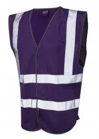 Leo Hi Vis Vest In Purple W05