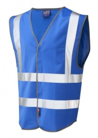 Leo Hi Vis Vest In Royal Blue W05