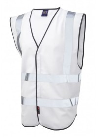Leo Hi Vis Vest In White W05