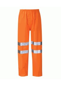 Orange Hi Vis Breathable Waterproof Overtrousers