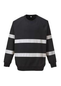 Custom Hi Vis sweatshirt in Navy or black