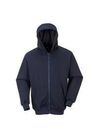 FR81 Flame Retardant Zip Front Hooded Sweatshirt