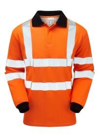 Pulsar Flame Retardant Orange Hi Vis Poloshirt PRFR21