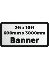2ftx10ft printed banner 600x3000mm