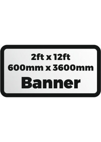 2ftx12ft printed banner 600x3600mm