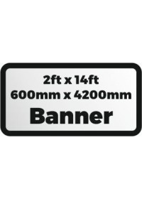 2ftx14ft printed banner 600x4200mm
