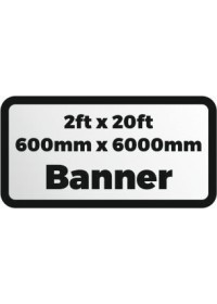 Printed banner 2ftx20ft 600x6000mm