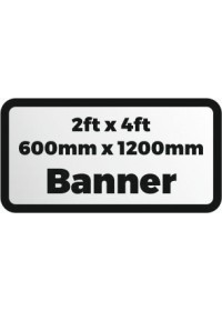 Printed banner 2ftx4ft 600x1200mm