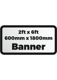 2ftx6ft printed banner 600x1800mm