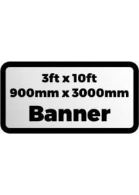 Custom Printed Banner 3ftx10ft 900x3000mm