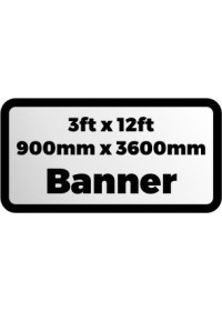 Custom Printed Banner 3ftx12ft 900x3600mm