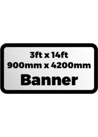 Custom Printed Banner 3ftx14ft 900x4200mm