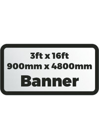 Custom Printed Banner 3ftx16ft 900x4800mm