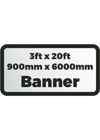 Custom Printed Banner 3ftx20ft 900x6000mm