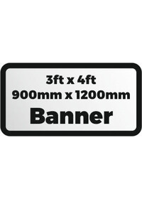 Printed banner 3ftx4ft 900x1200mm