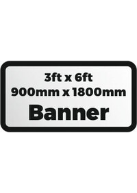 Custom Printed Banner 3ftx6ft 900x1800mm