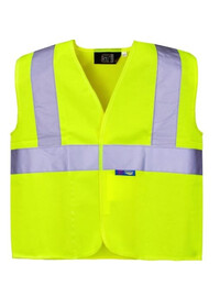 Kids Yellow Hi Vis vest Supertouch 39643