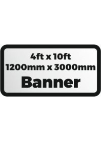 Custom Printed banner 4ftx10ft 1200x3000mm