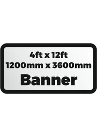 Custom Printed banner 4ftx12ft 1200x3600mm