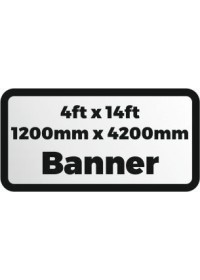 Custom Printed banner 4ftx14ft 1200x4200mm