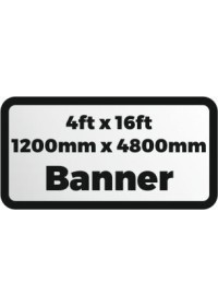 Custom Printed banner 4ftx16ft 1200x4800mm