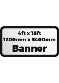 Custom Printed banner 4ftx18ft 1200x5400mm