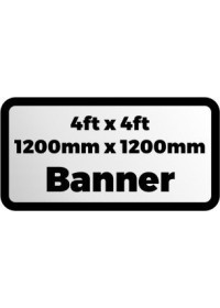 Printed banner 4ftx4ft 1200x1200mm