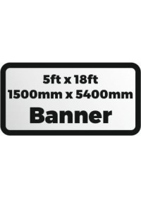Custom Printed banner 5ftx18ft 1500x5400mm