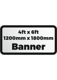 Custom Printed banner 4ftx6ft 1200x1800mm