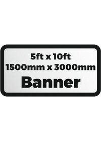 Custom Printed banner 5ftx10ft 1500x3000mm