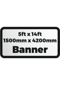 Custom Printed banner 5ftx14ft 1500x4200mm