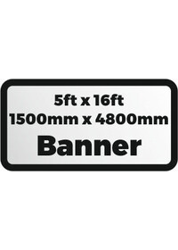 Custom Printed banner 5ftx16ft 1500x4800mm