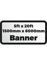 Custom Printed banner 5ftx20ft 1500x6000mm