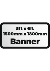 Custom Printed banner 5ftx6ft 1500x1800mm
