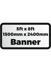 Custom Printed banner 5ftx8ft 1500x2400mm