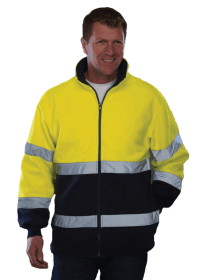 Hi Visibility 2 tone Fleece Blue Yellow HVK10B
