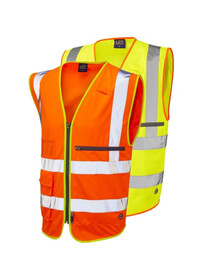 Hi Vis Vest with Tablet Holder Pocket Leo W24