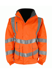 Orange Breathable Hi Vis bomber Jacket