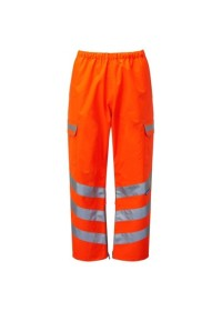 Pulsarail Orange Hi Vis Waterproof Overtrouser PR503