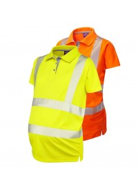 Ladies Maternity Hi Vis Poloshirt Leo PM03